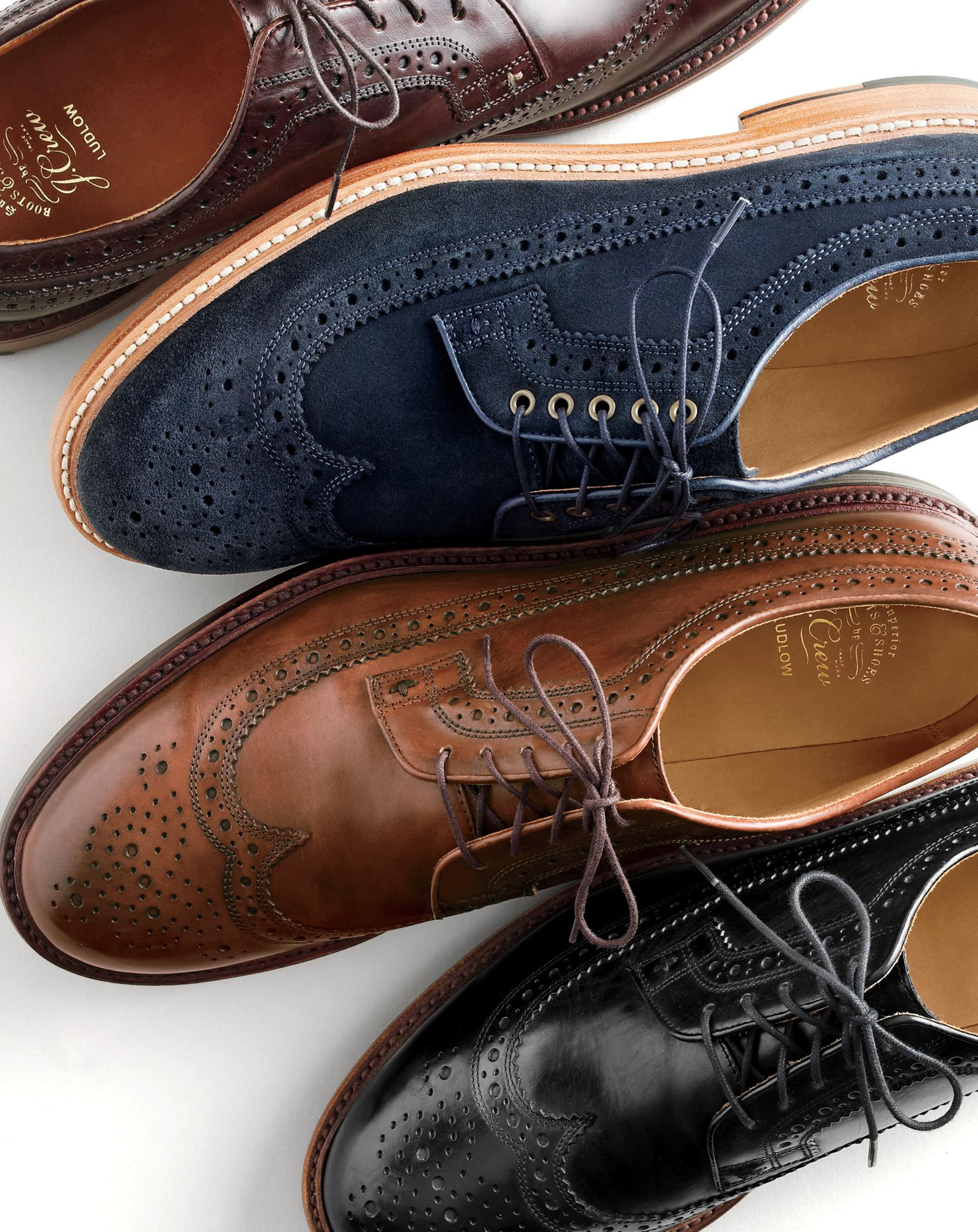 df4de22d4e7 J.Crew men s Ludlow wing tip shoes in suede and leather. To preorder call  800 261 7422 or email verypersonalstylist jcrew.com.
