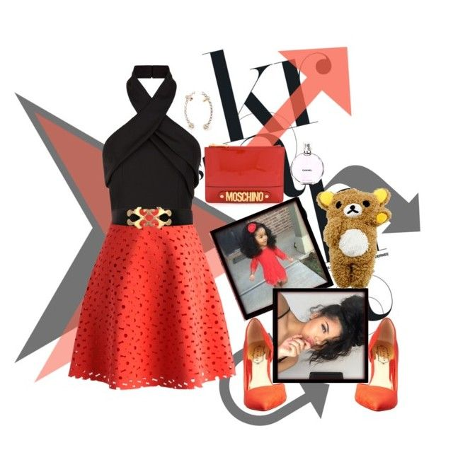 """""""Untitled #354"""" by michikin-nozuka ❤ liked on Polyvore featuring Finders Keepers, Chicwish, Ted Baker, Moschino and Chanel"""