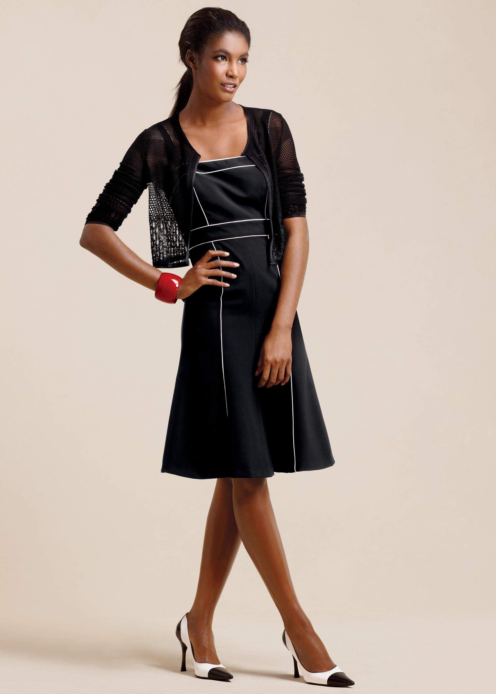 Darling plus size dress with viscrepe stretch eyelet stitch shrug