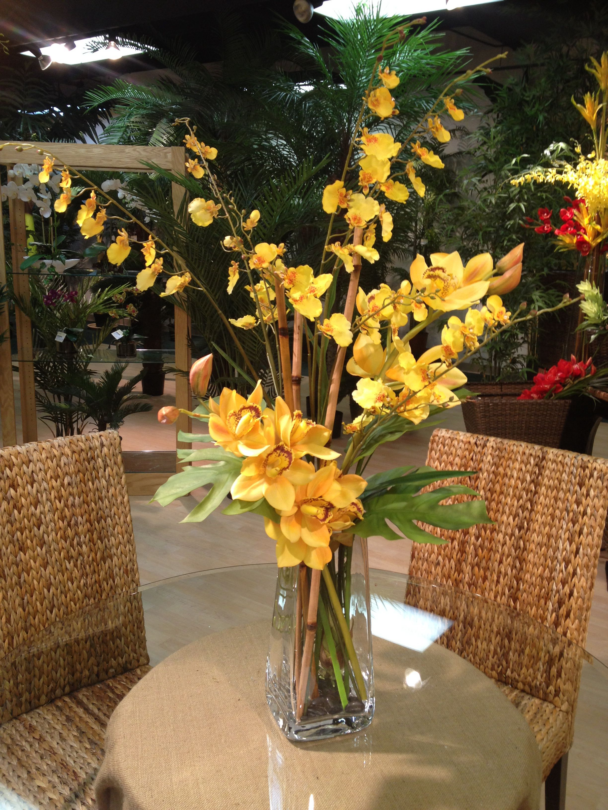 Silk Orchids Arrangement By Lins International Anytime Orchids