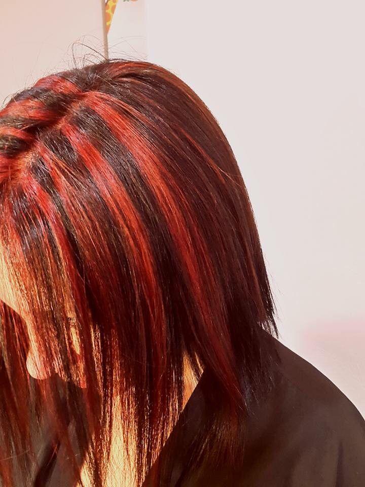 Velos marcados color rojo