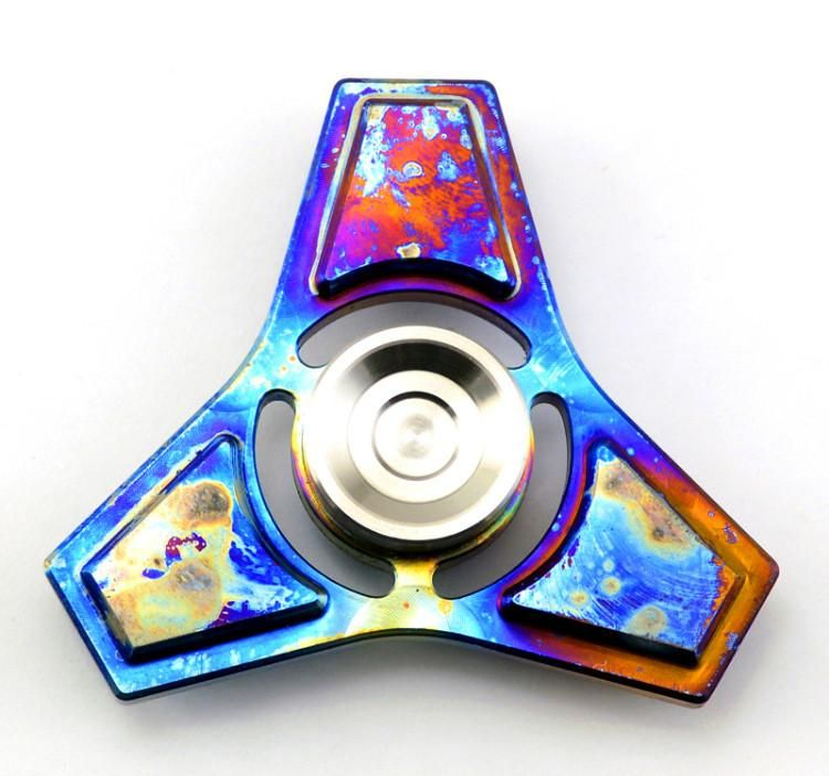 1 Spinner Rainbow Fidget Spinner in metallo a mano Spinners