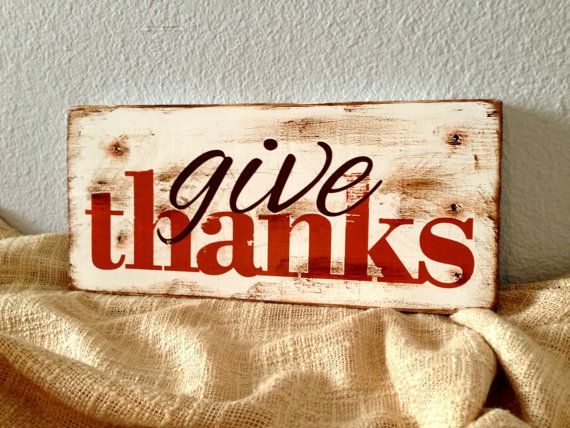 Wooden Sign Decor Extraordinary Made To Order  Give Thanks Rustic Distressed Wooden Sign  Fall Decorating Design