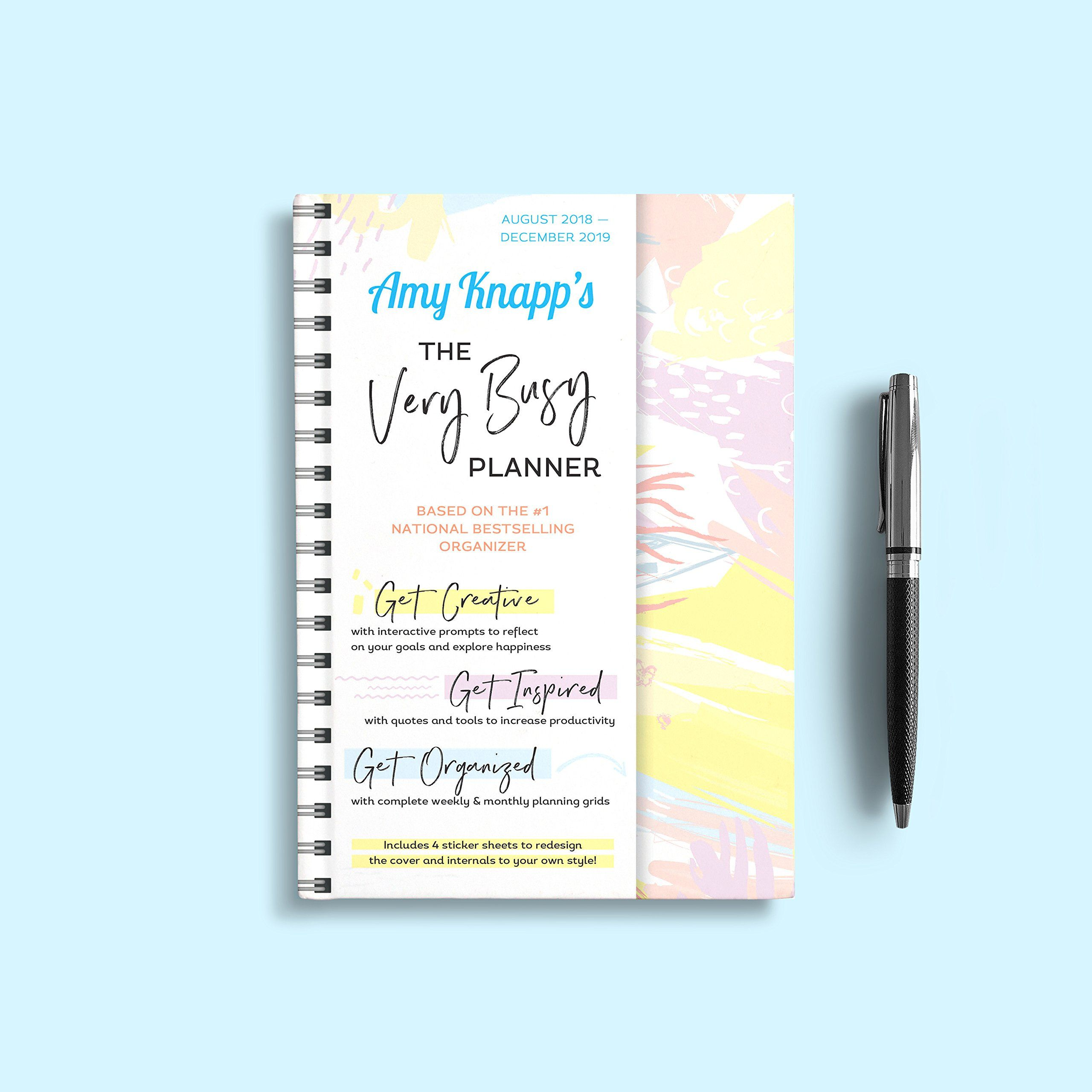 image regarding May Books Planner known as 2019 Amy Knapps The Pretty Active Planner: August 2018-December