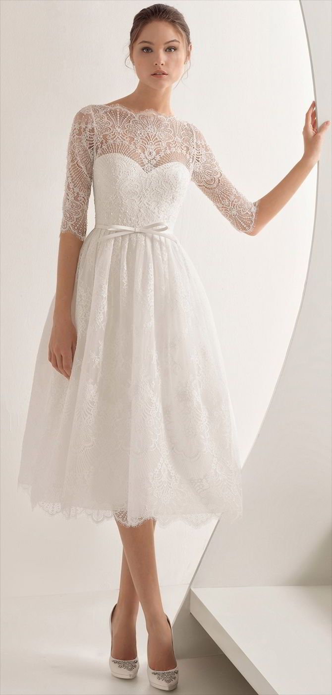 Wedding dress with straps  Rosa Clara Fall  Wedding Dresses  Pinterest  Rosa clara Short