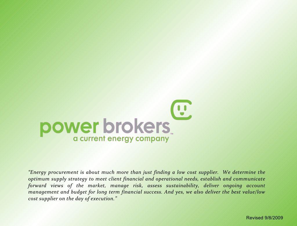 Power Brokers Presentation Energy companies