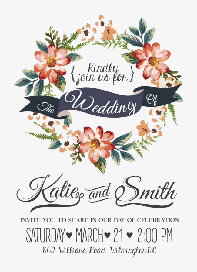 Watercolor flowers wedding invitations vector material free watercolor flowers wedding invitations vector material stopboris Gallery