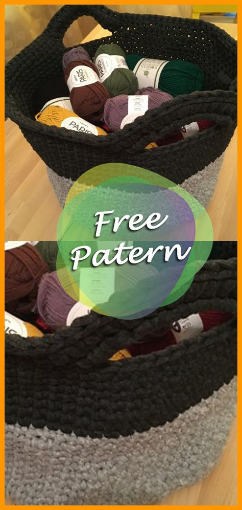 Stash Basket in Bernat Blanket Free Pattern | Pinterest | Häkeln