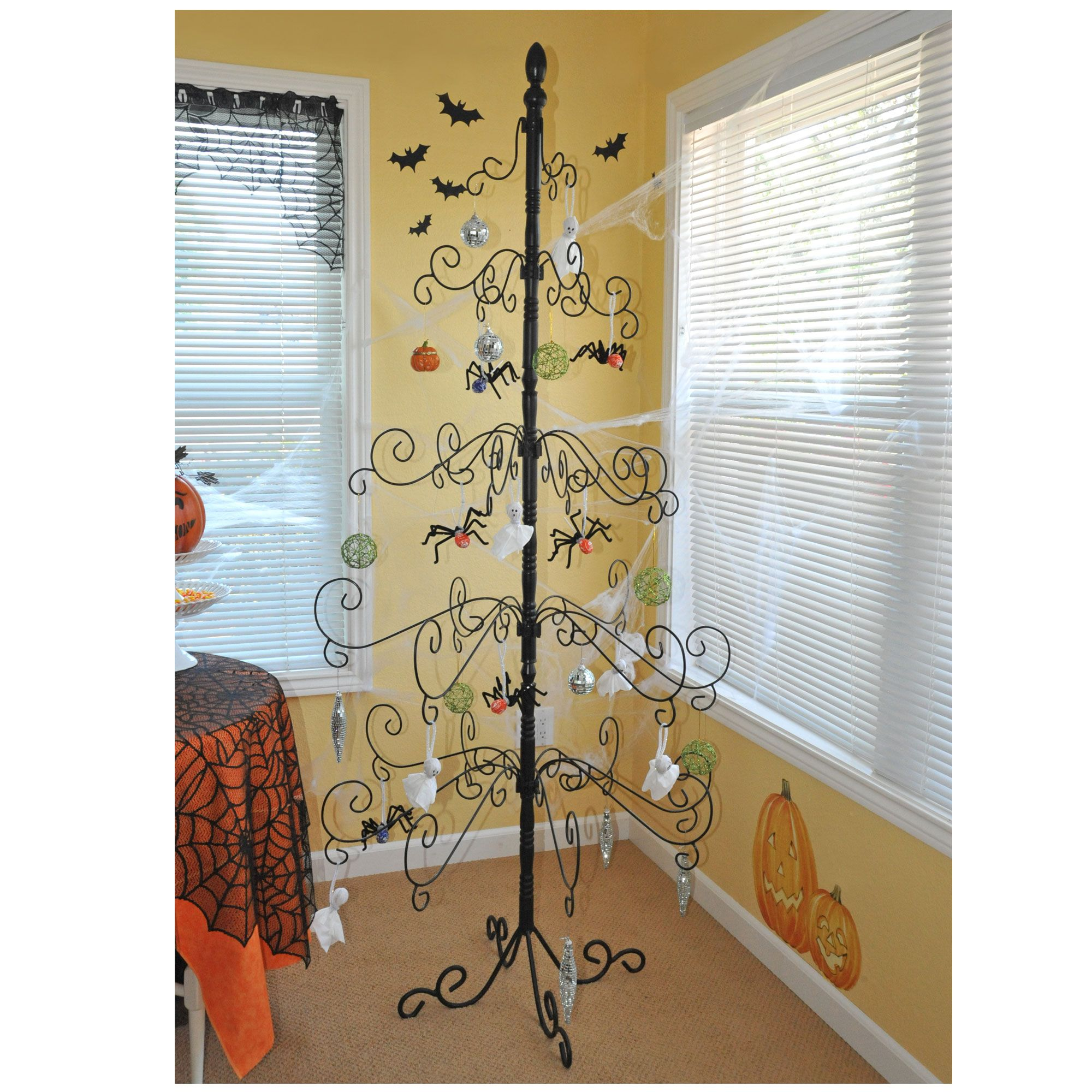 Christmas Decorations All Year Long: Wrought Iron Ornament Tree $199 I Would Leave This Up All