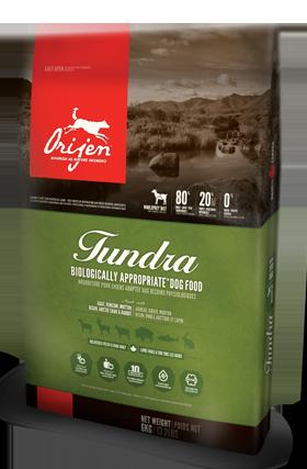 Holistic Dog Food Orijen Tundra 13lb Freeze dried dog
