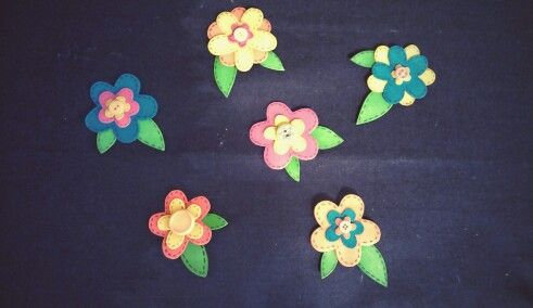 Foam flowers! Easy and super cheap craft. Can be used as an embellishment for scrapbooking or cards.