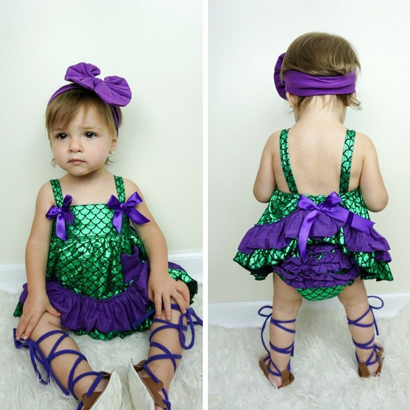 cc10fad38552 Green Mermaid With Purple Ruffle Swing Top #boutique-outfits #new #newborn- clothing #newborn-sets #perfect-sets #spring-line Sc 1 St Pinterest