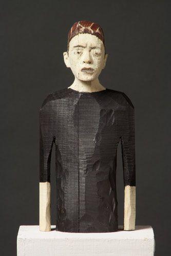 black - man - sculpture - Joe  Brubaker -