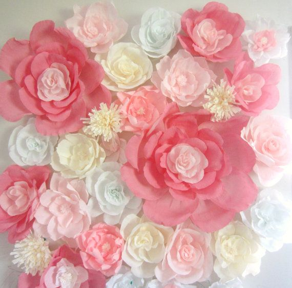 Giant paper flower wall display 4ft x 4ft wedding backdrop shop sale 25 off giant paper flower wall by flowervoyageboutique mightylinksfo