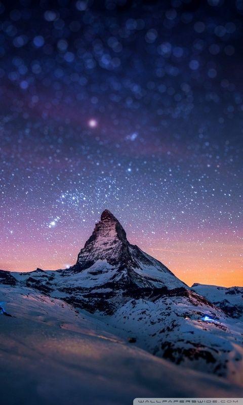Mountain At Night Wallpapers Hd Wallpapers Art Pinterest