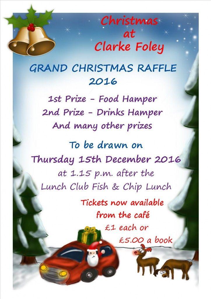 christmas-raffle-poster Backgrounds Raffle prizes, Christmas