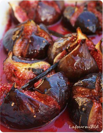 Figues roties au miel exp riences culinaires figues - Cuisiner des figues fraiches ...