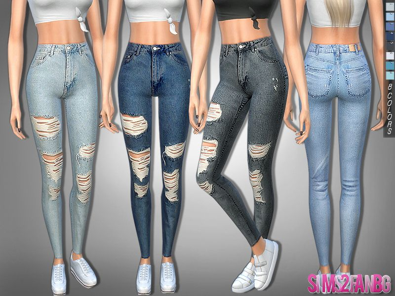 322 - Ripped Skinny High Jeans Found In Tsr Category -9336