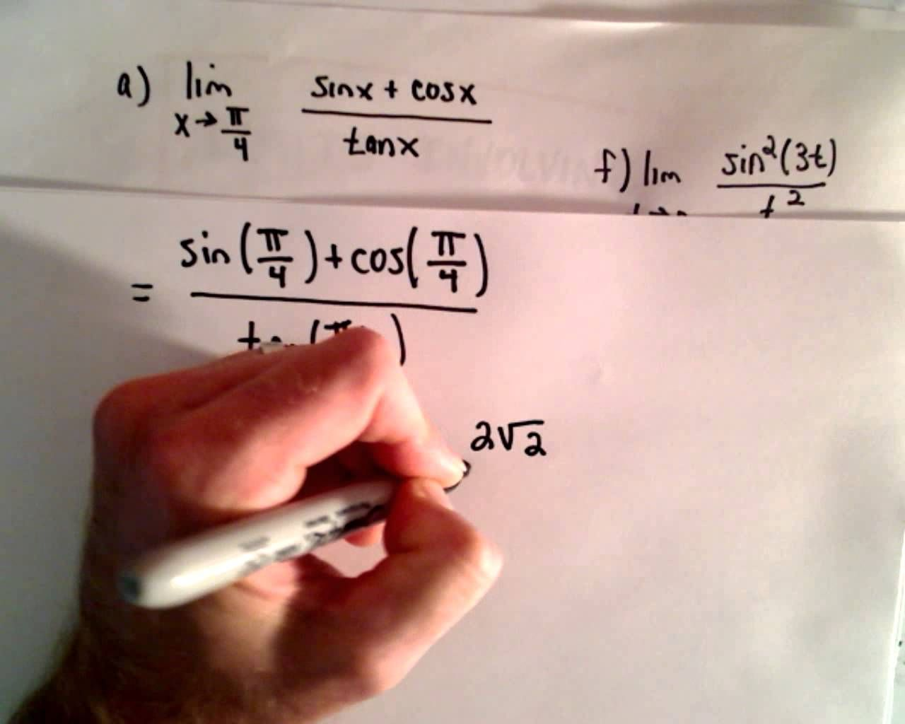 Limits Of Trig Functions