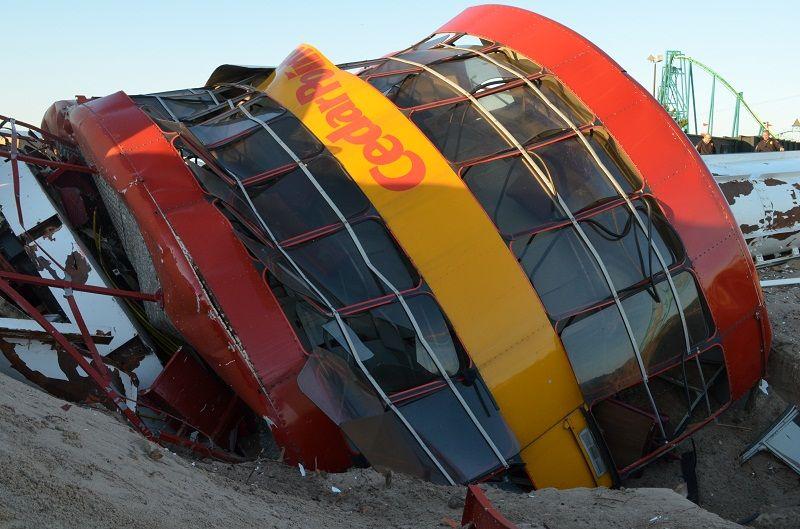 Cedar Point Rides Cedar Point Demolishes Space Spiral