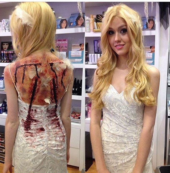 katherine mcnamara as a fallen angel (i think) | shadowhunters