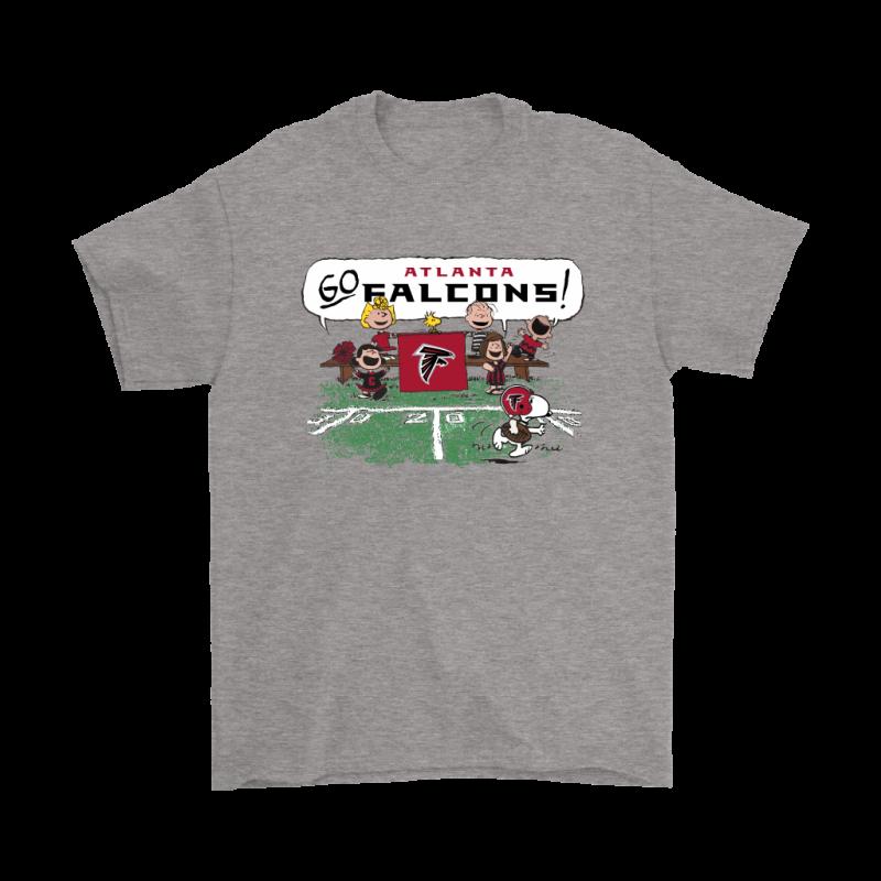 wholesale dealer 77371 a0ac4 The Peanuts Cheering Go Snoopy Atlanta Falcons Shirts ...