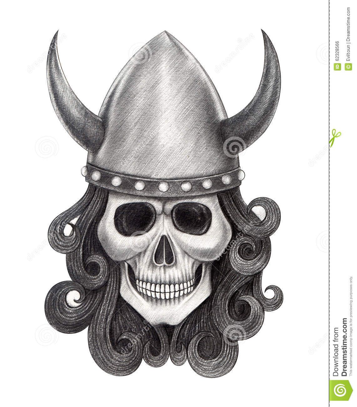 Art skull vikings tattoo design head smiley face hand for Viking pencils