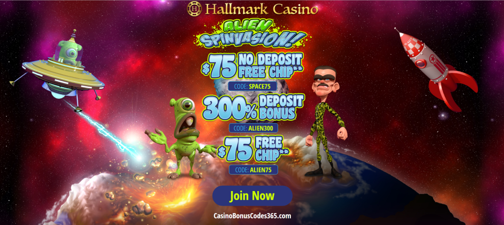 Hallmark Casino 300 Bonus Plus 150 Free Chip Welcome Package