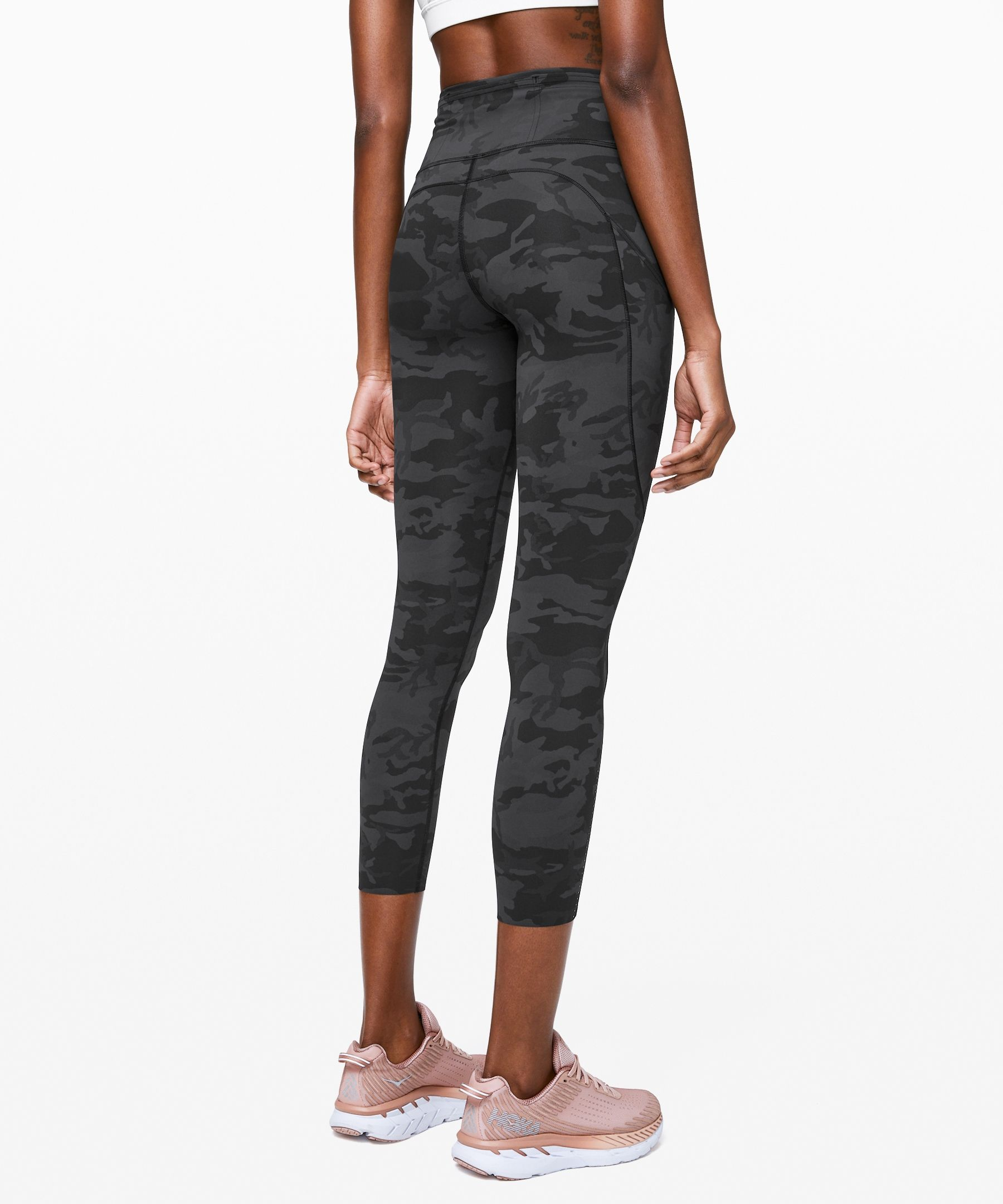 Lululemon Women S Fast And Free Legging Ii 25 Nulux Incognito Camo Multi Grey Size 10 Running Tights Women Pants For Women Running Women