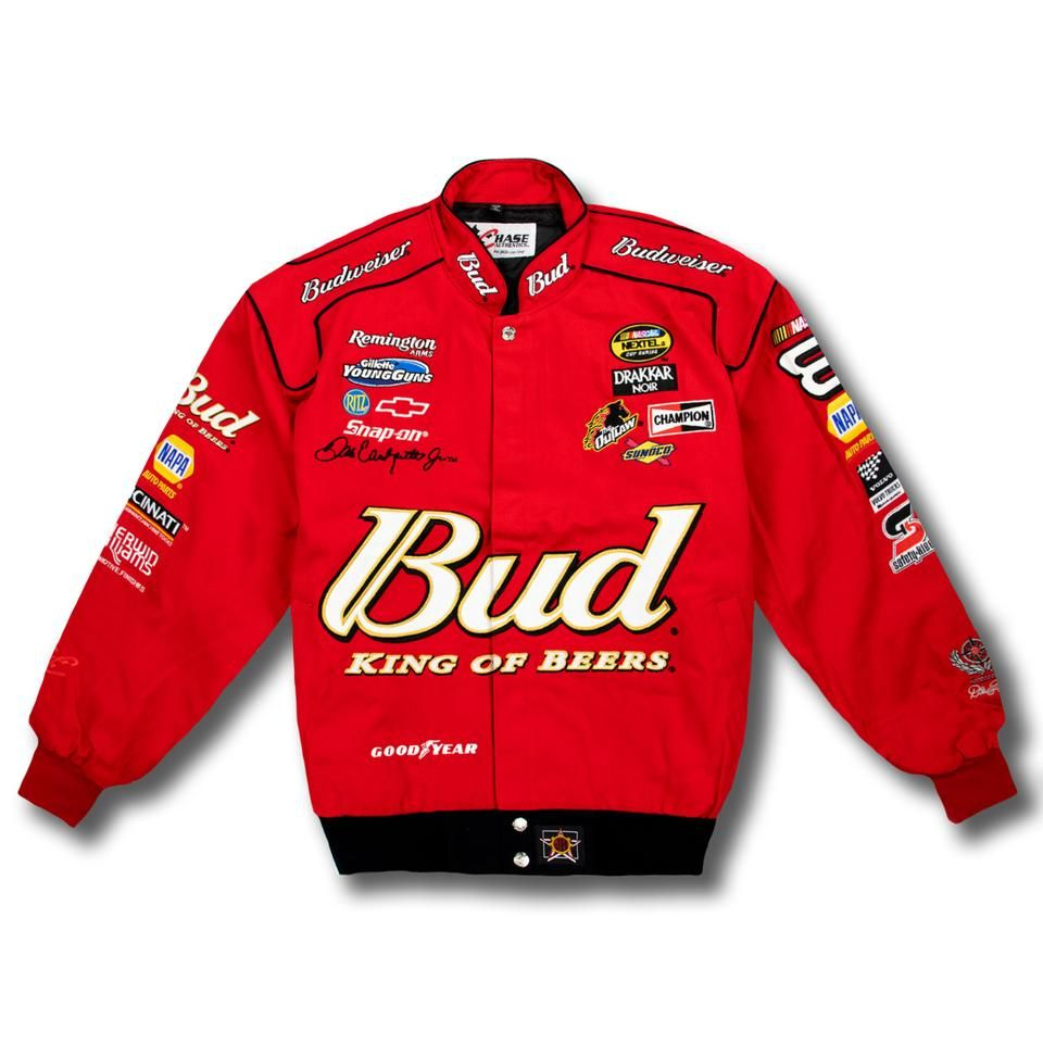 Bud King Of Beers Nascar Red Vintage Racing Jacket Nascar Jackets Vintage Racing Jacket Jackets
