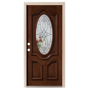 prefinished entry doors. visit the home depot to buy steves \u0026 sons 36 in. prefinished mahogany oval westhaven glass zinc caming right hand inswing prehung door entry doors s