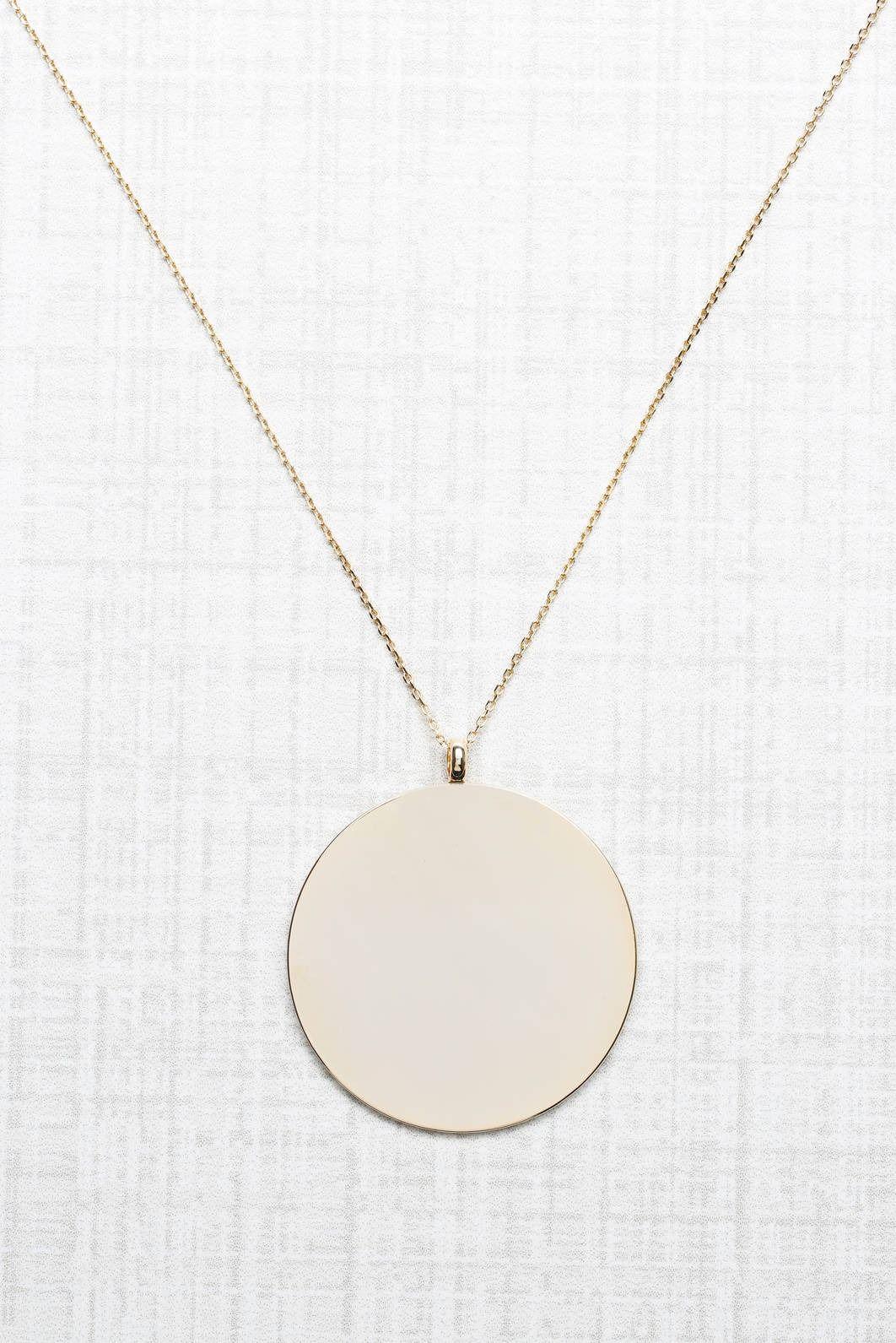 Bret Boho Clean Gold Disc Pendant Necklace   South Moon Under