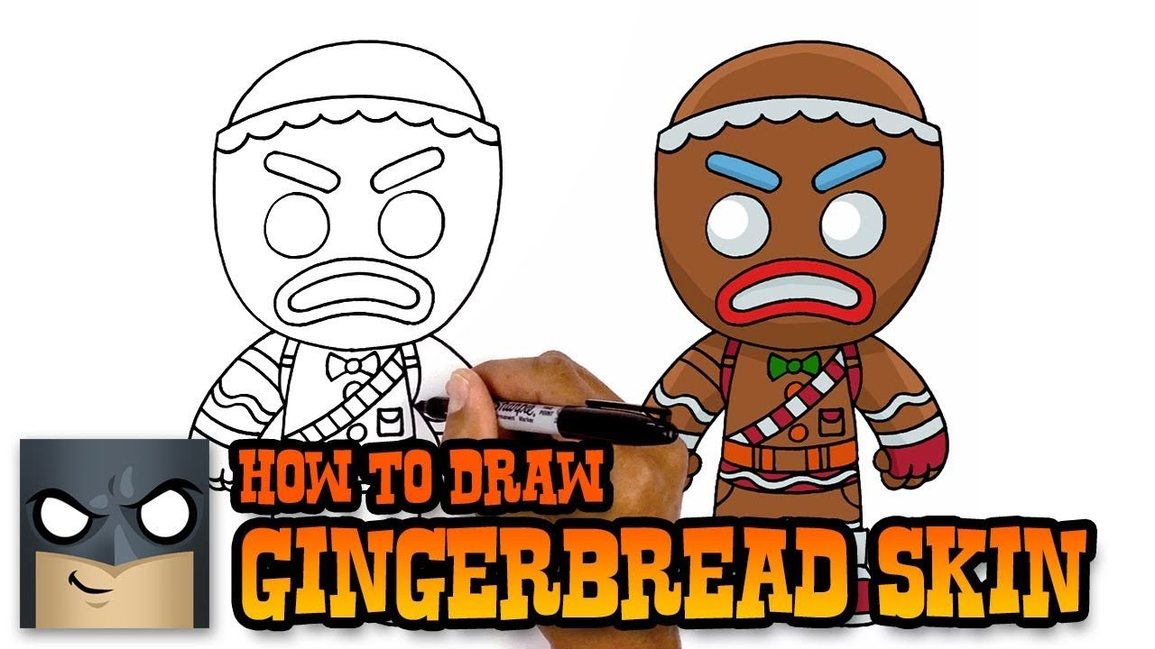 Fortnite How To Draw Gingerbread Skin Art Tutorial Art