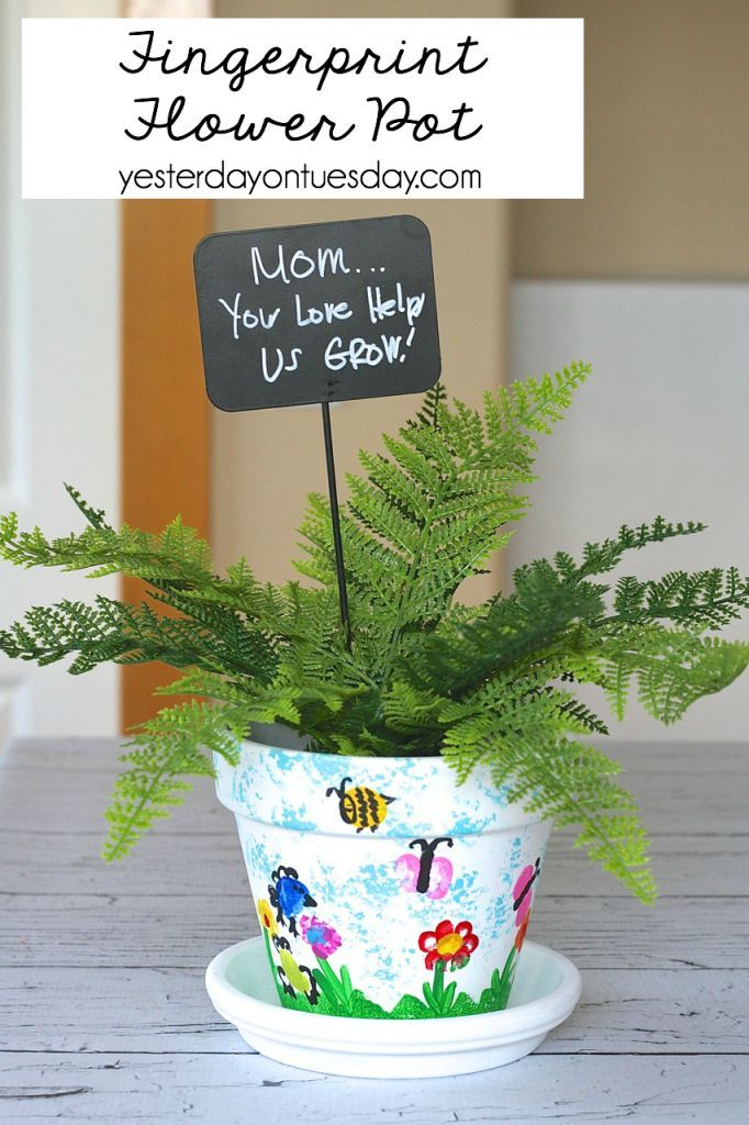 Fingerprint Flower Pot A Sweet And Thoughtful Mother S Day Gift