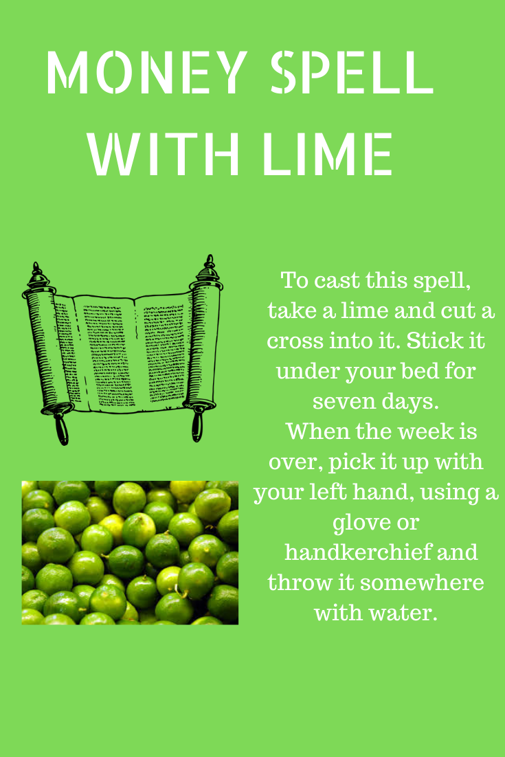 Money Spell with a Lime #moneyspells