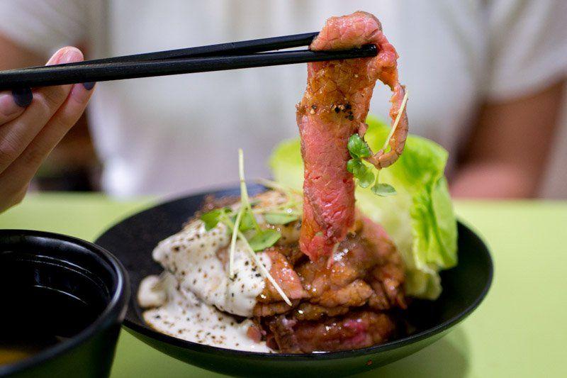 Gyu Nami S 10 Wagyu Beef Donburi At Amoy Street Food Centre Tastes As Good As It Looks Food Street Food Wagyu Beef