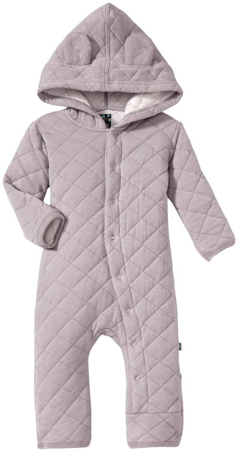 a77b8c8af KicKee Pants Unisex Baby Quilted Hoodie Coverall With Ears   Little ...