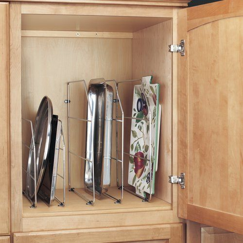 Rev A Shelf 12 Inch Height Tray Divider For Baking Sheets Dishes Chrome Min Cabinet Opening 4 W X 20 1 8 D X 12 1 8 H 597 12cr 50 In 2020 Rev A Shelf Kitchen Cabinet