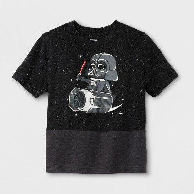 89df4dcb Find product information, ratings and reviews for Toddler Boys' Star Wars  Vader Tie Fighter Short Sleeve T-Shirt - Black online on Target.com.