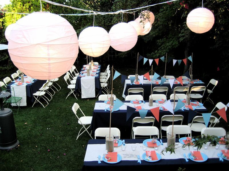 banners as table decorations & Really like the idea! Also great for a kids birthday party | Parties ...