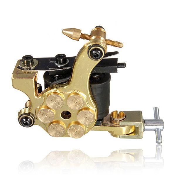 220V Professional Tattoo Machine Gun 20 Colors Ink Power Supply Set Kit - US$40.99