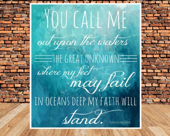 Quotes About Discovery Inspired By The Ocean: INSTANT DOWNLOAD, Scripture Art, Inspirational Quote