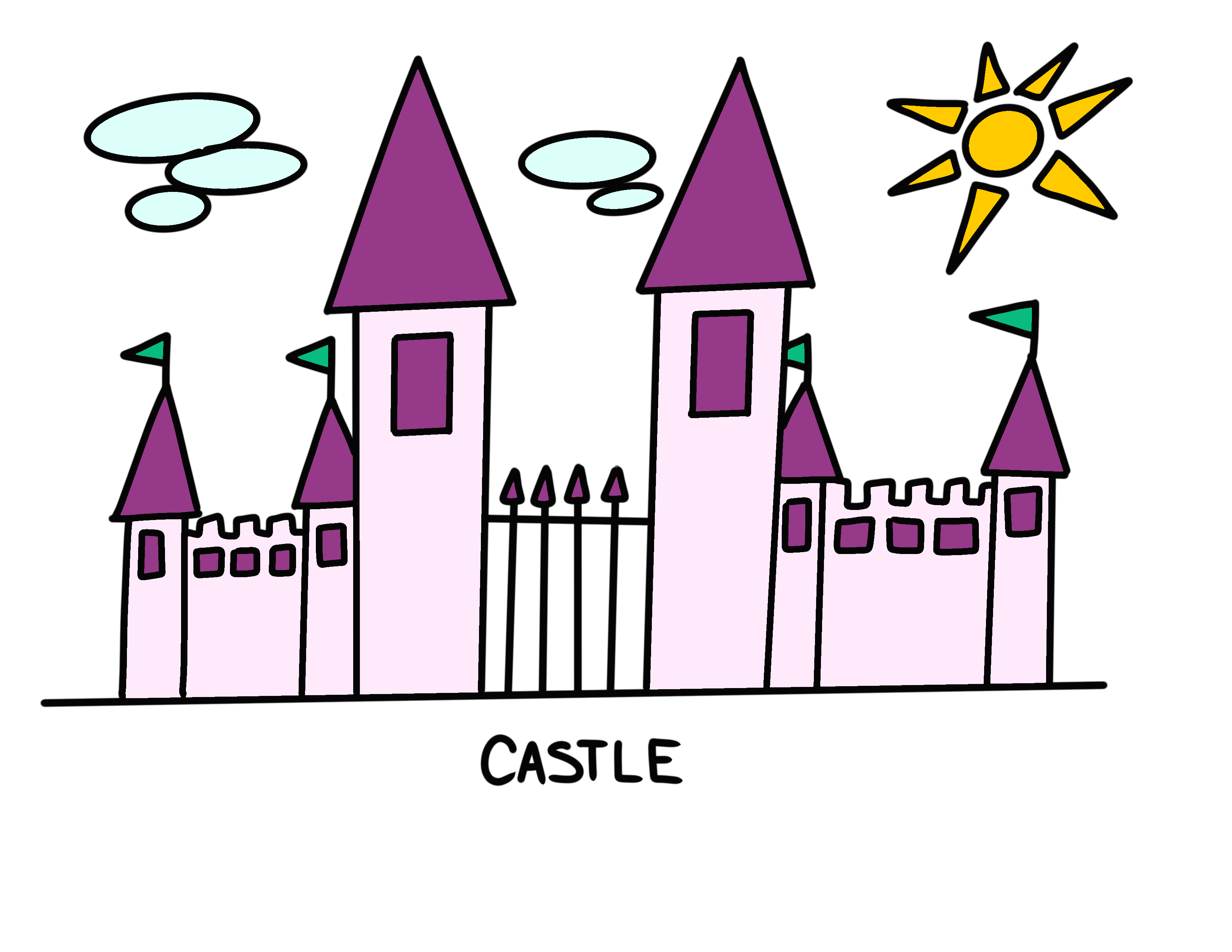 How To Draw A Castle In