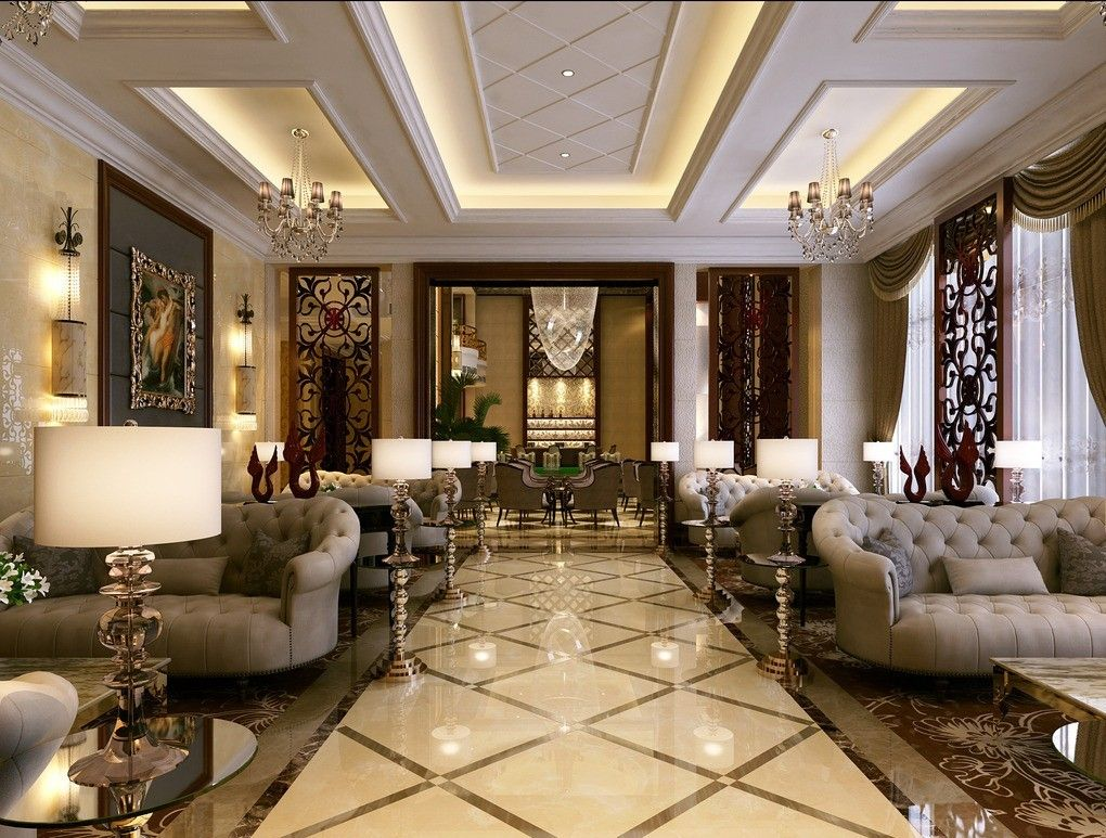 Simple european style sales office reception room interior Room design site