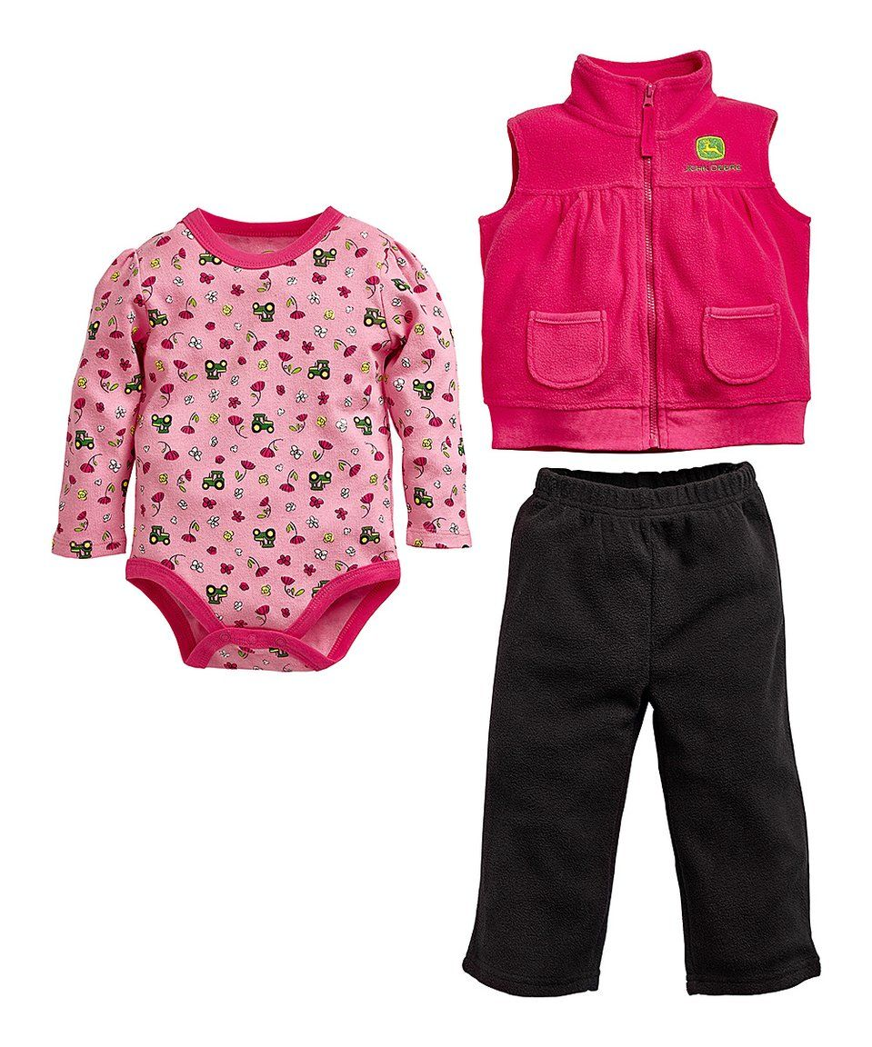 a8e5cc7c1188 Take a look at this Pink  John Deere  Vest Set - Infant today ...