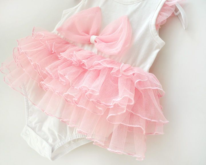 Newborn Infant Baby Girl Bowknot Tutu Romper Bodysuit Party Dress ...