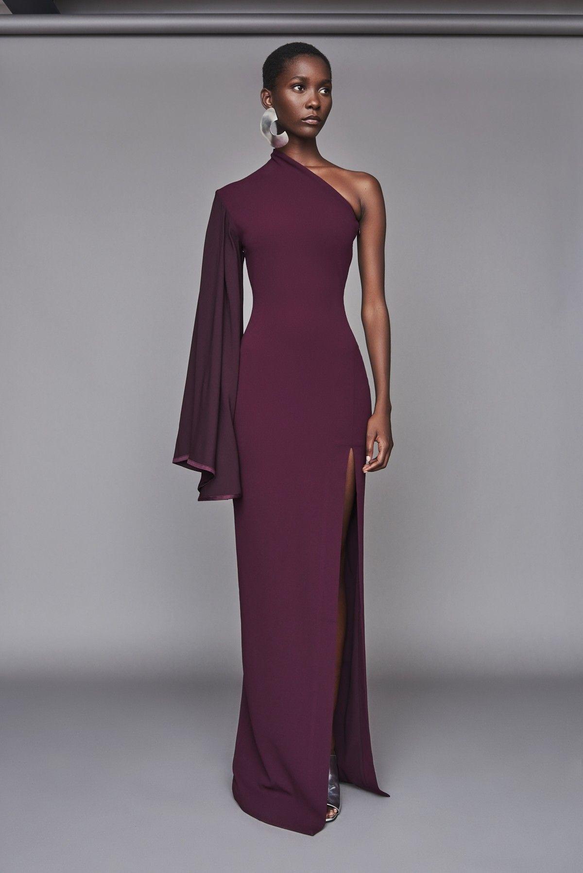 a5cb5dca945 Solace London Lani Dress Aubergine