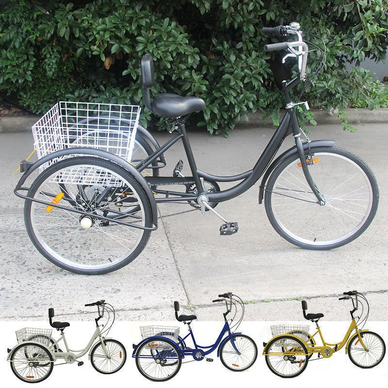 Details About Shimano 7 Speed Adult 24 3 Wheel Tricycle Trike