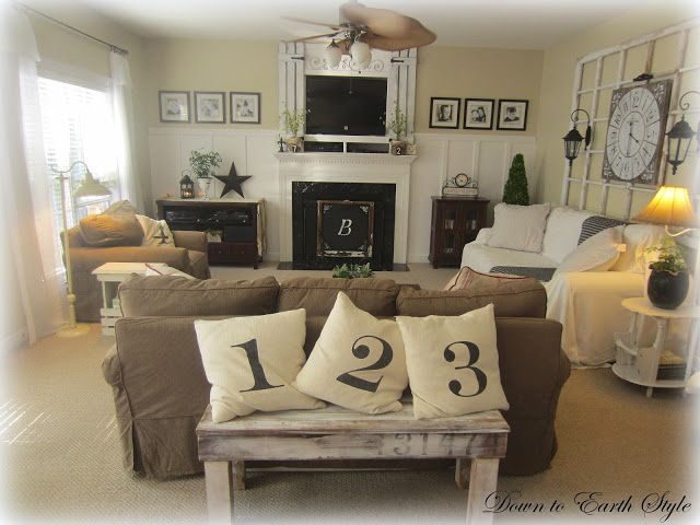 Earthy Living Room Colors down to earth style: wall color of her living room: carrington