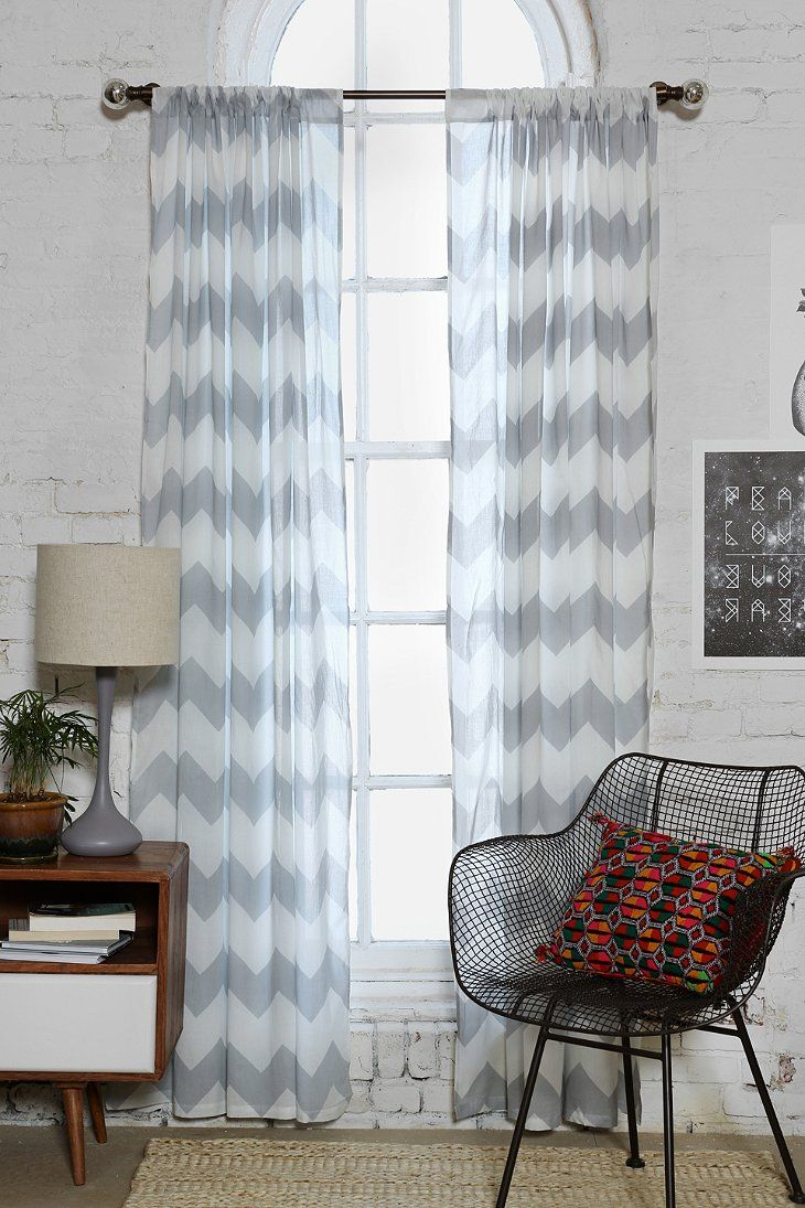 Zigzag Curtain | Living rooms, Room and Bedrooms